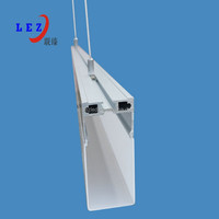 indoor LED Pendant strip light casing for decoration with Aluminum profile boday and Milky or clear PC cover