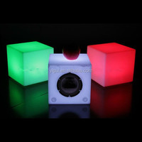 LED cube/Plastic Outdoor Sofa/Led Glowing Chair&Table garden led cubes seat