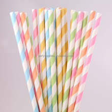 New 2015 Products Party Favors Red Striped Drinking Paper Straws
