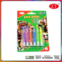 6 color face paint crayon no-toxic for kids