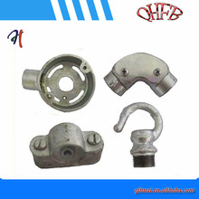 hot dipped galvanised malleable iron pipe fiiting base distance saddle /clamp fitting