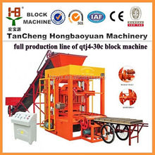 Concrete brick making machine equipment / Factory directly sell automatic block making machine price QTJ4-30C