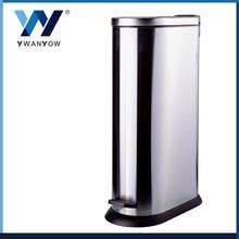 Oval stainless steel waste bin waste recycling bin