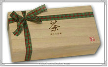 Luxury wooden compartment Chinese/Japanese tea packing box for tea