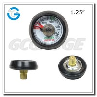 1.25 inch stainless steel medical oxygen cylinder gauge with UL certification