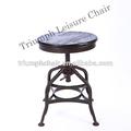 Triumph Asiento Industrial Redonda Vintage Turner Taburete / madera antigua Toledo Taburete / Fabulous Turner heces