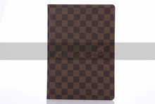 China wholesale cover case for ipad air 2,for ipad 6 pu diamond check leather case,for new product ipad 6 case