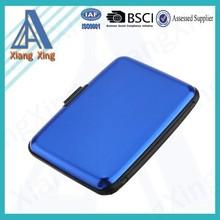 Blue Aluminium Metal Wallet ID Credit Business Card Purse Case Pocket Holder