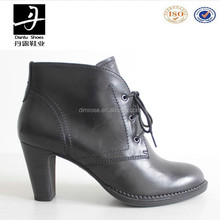 Wholesale Big Size Lace Up High Heel Women Boots 2015