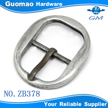 Zinc alloy oval pin buckle personalized belt buckles