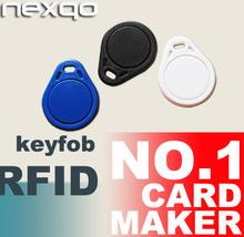 ISO14443A 13.56mhz custom rfid ultralight key fob/key chain/key ring for access control