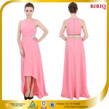 Women Clothing High Fashion Sleeveless Elegant Pink Long Evening Dresses