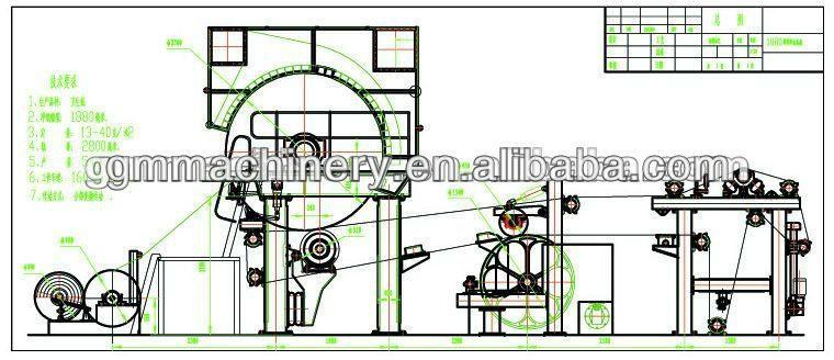 787 мм туалетной бумаги jumbo ролл машина с машина по переработке макулатуры