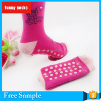 PVC Bottom Grip Sock Non Slip Grip Yoga Sock Terry Christmas Anti Slip Grip Tube Women Socks