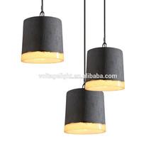 la lámpara colgante decorativa de hormigón, fijaciones de la lámpara colgante de hormigón industrial para restaurante