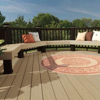 plastics raw materials anti-uv wood plastic balcony flooring
