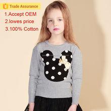 2015 autumn children clothes fashion long sleeve knit girl children t shirt
