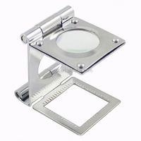 Diamond Magnifying Glass Stainless Steel Cloth Magnifier Jewellery Loupe Diamond Magnifier