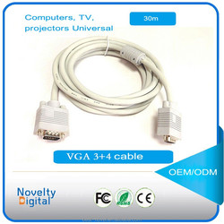 DB15 wiring diagram vga cable laptop projector dual ring with this cable 3+4 Male-Male 30m VGA cable