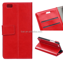 For Huawei Ascend P8 Flip Cover Red