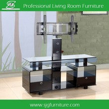 High Quality TV Cabinet Design Tempered Glass LCD TV Stand