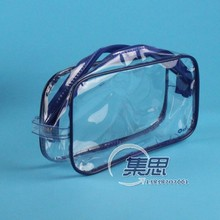 sewing clear pvc bag with handle