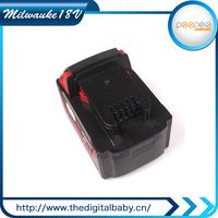 18V Li-ion Battery for Milwaukee 18V M18 4000 mah Tool Battery Pack