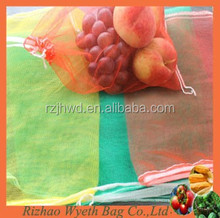poly hdpe knitted fruit packing net bags