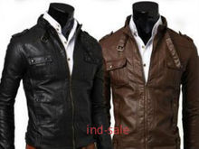 Custom Tailor Made All Size Genuine Stylish Leather Jacket Brown/Black Slim Fit
