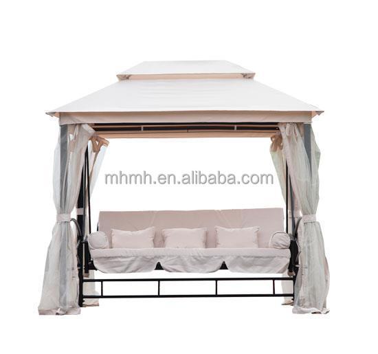 Outdoor 3 person patio daybed canopy gazebo swing buy gazebo swing