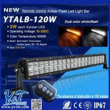 Y&T offroad led light barled flash light bar strobestorbe lightbars change color