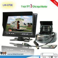 China supplier - 7 inch waterproof night vision hyundai verna rearview camera (LW-070E)