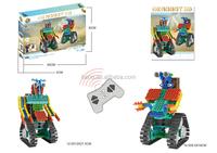 BNR900230 137pcs 2 IN1 RC control DIY plastic kids Educational toys building block