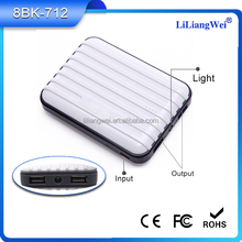 New product wholesale power bank 8000mah for cell phone 2a