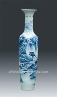 Chinese Large Decorative Ceramic Floor Vases