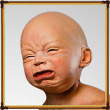 Street whimsy, Disgusted, angry , happy , cry latex baby mask