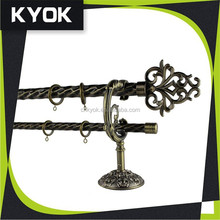 fancy design window home decoration twisted wrought iron curtain rods