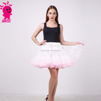 Fashion Design Pink Lace Pettiskirt For Women Cheap Teenager Tutu Soft Chiffon Pettiskirt skirt for Party