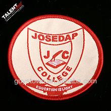 custom private bordure school badge logo for garment