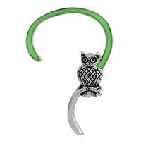 Cool owl earrings clip on earrings glow in the dark earrings for girls