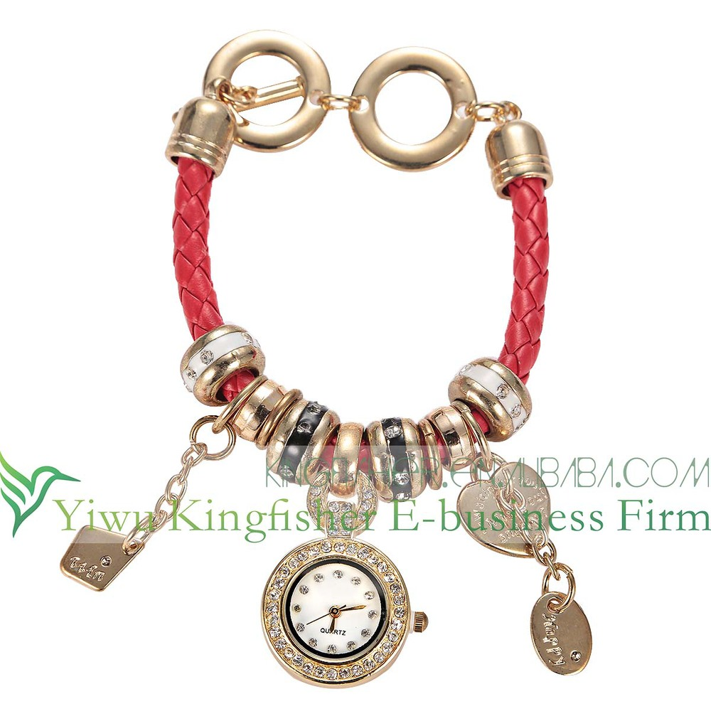 2014 Fashion vintage retro braided twist leather lady watch!! Antique rock rivet twist leather vogue watch quartz lady watch!!