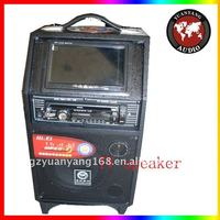 hot! trolley speaker with DVD, rechargeable battery, wireless mcirophone, USB, SD, FM radio, bluetooth