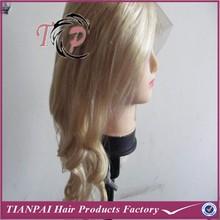 2015 popular American women hair wig, beautiful lace front wig, natural blonde human hair wig