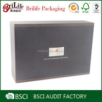 Customize fancy leather wine carrier,leather wine box at best price in shanghai