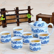 TG-405W232-W-4 pottery tea set with CE certificate baby baptism gift