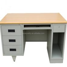 White melamine modern office staff desk,portable melamine workstation laptop desk table