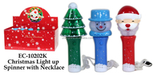 Christmas light up spinner with necklace