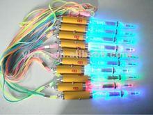 Necklace flashing bulb light up pen