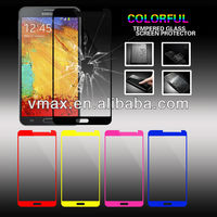 Ultra Thin 0.2mm Anti-Scratch 9H Tempered Glass color screen protector for Galaxy note 3 N9000 OEM/ODM (Glass Shield)