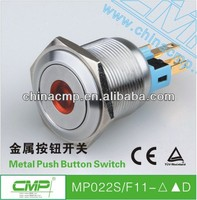 CMP 22mm switch with dot led push button on off switch